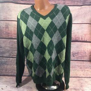 Banana republic sweater men's XL green wool